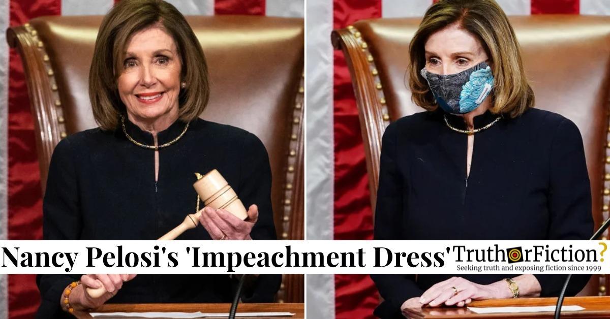 House Speaker Nancy Pelosi's 'Impeachment Dress' Makes Second Appearance