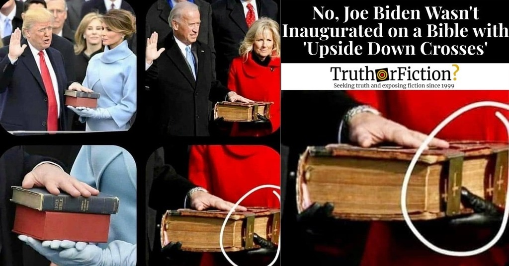 Did Biden's Bible Have 'Upside Down Crosses'?
