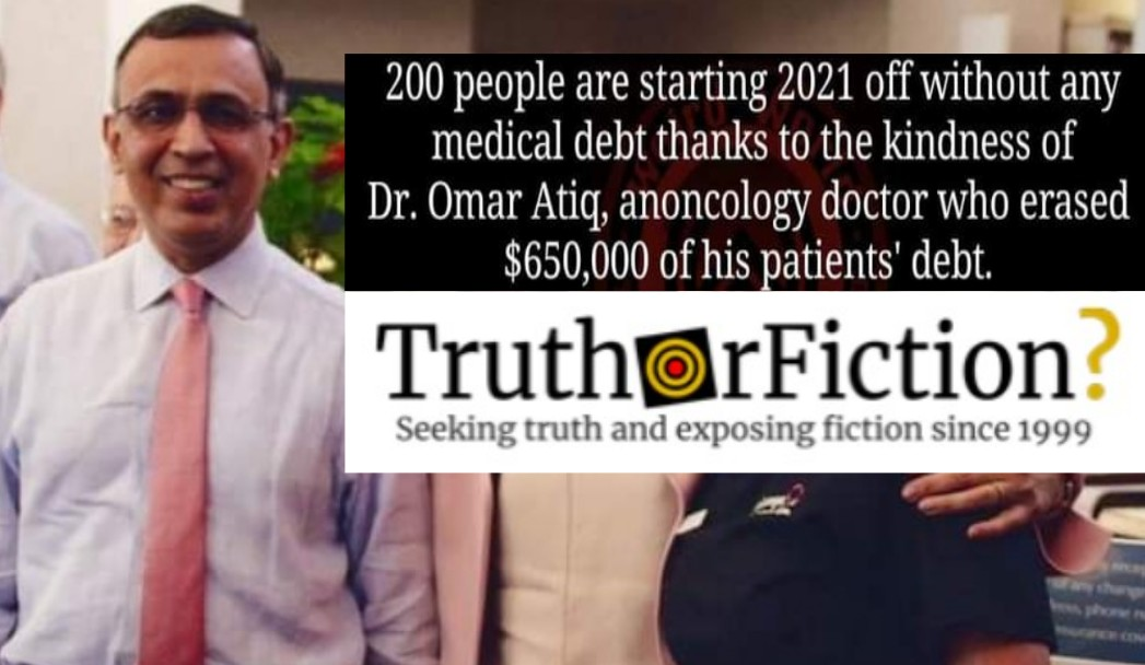 Did a Doctor Erase $650,000 in Medical Debt for 200 People?