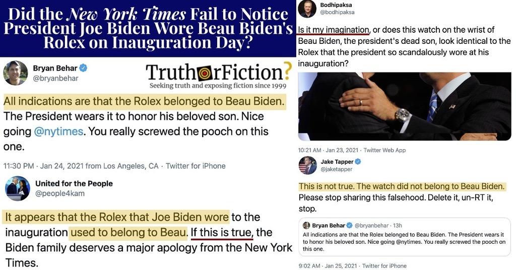 Is Joe Biden's Rolex Really Beau Biden's Rolex?