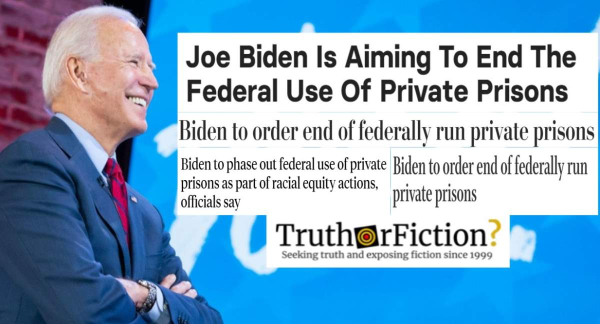 Is the Biden Administration Ending Federal Use of Private Prisons?