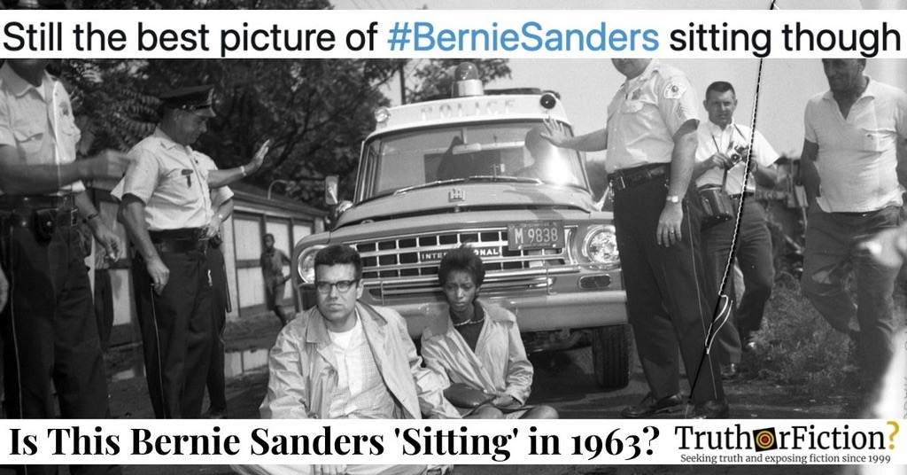 'Still the Best Picture of #BernieSanders Sitting Though'