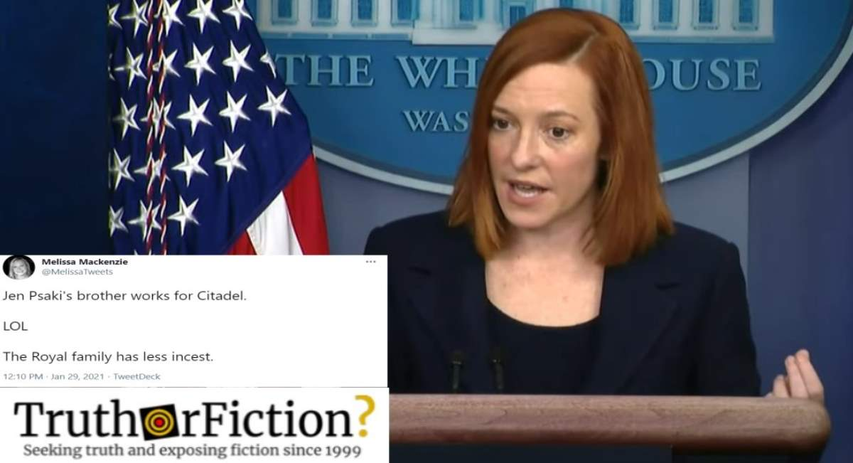Does Jen Psaki Have a Brother Working for Citadel LLC?