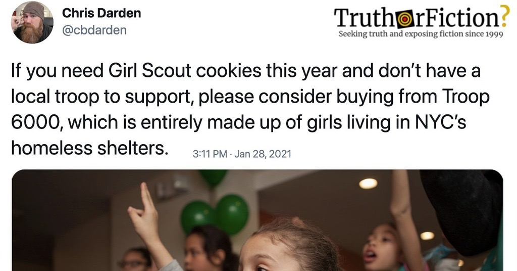 'Please Consider Buying' Girl Scout Cookies from 'Troop 6000,' 'Entirely Made up of Girls Living in NYC's Homeless Shelters'