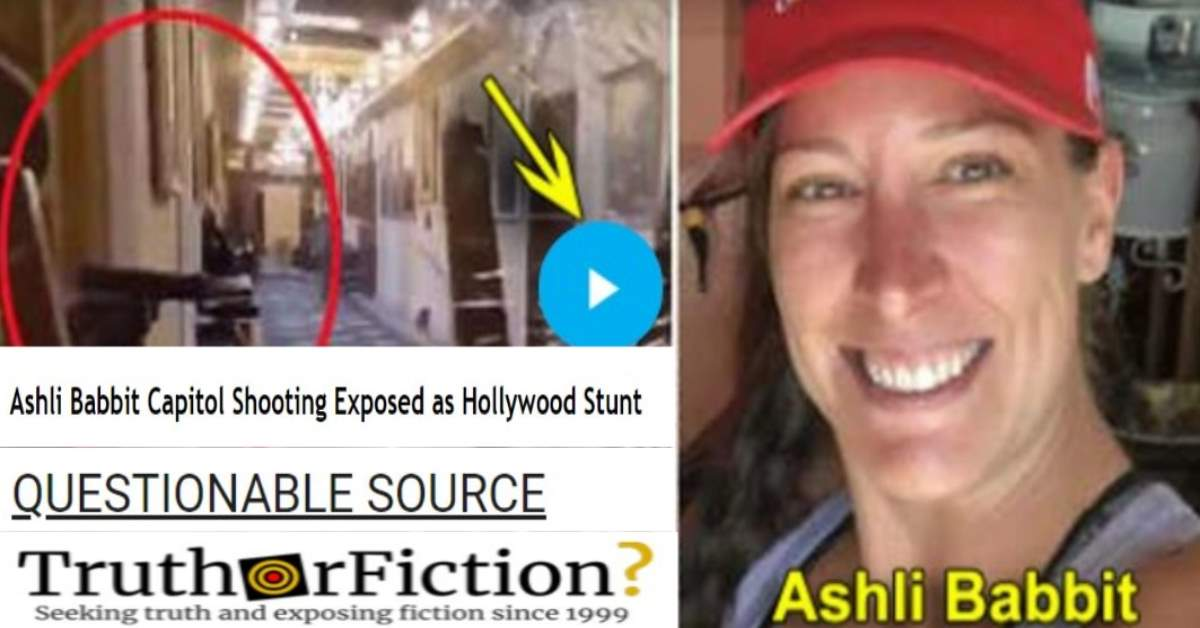 Was Ashli Babbitt's Death 'Exposed as a Hollywood Stunt'?
