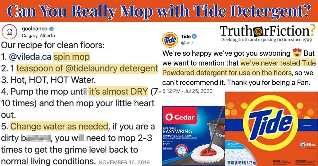 Can You Mop Your Floors With Tide Powder?
