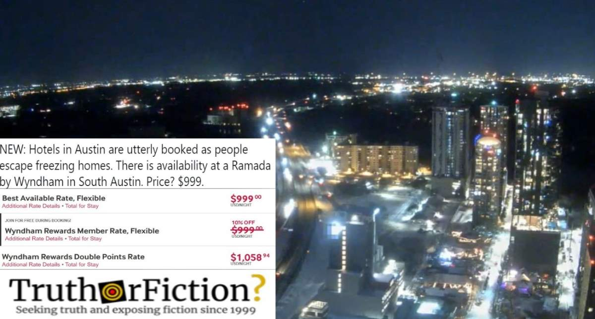 Was a Texas Ramada Hotel Charging $999 For Rooms After a Huge Winter Storm?