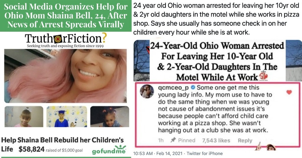 Ohio Mom Shaina Bell's Arrest for Working Without Childcare Leads to Viral Outcry, a Popular GoFundMe