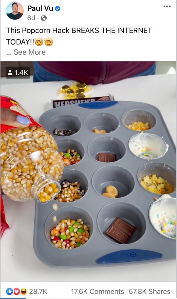 popcorn muffin tin recipe hoax