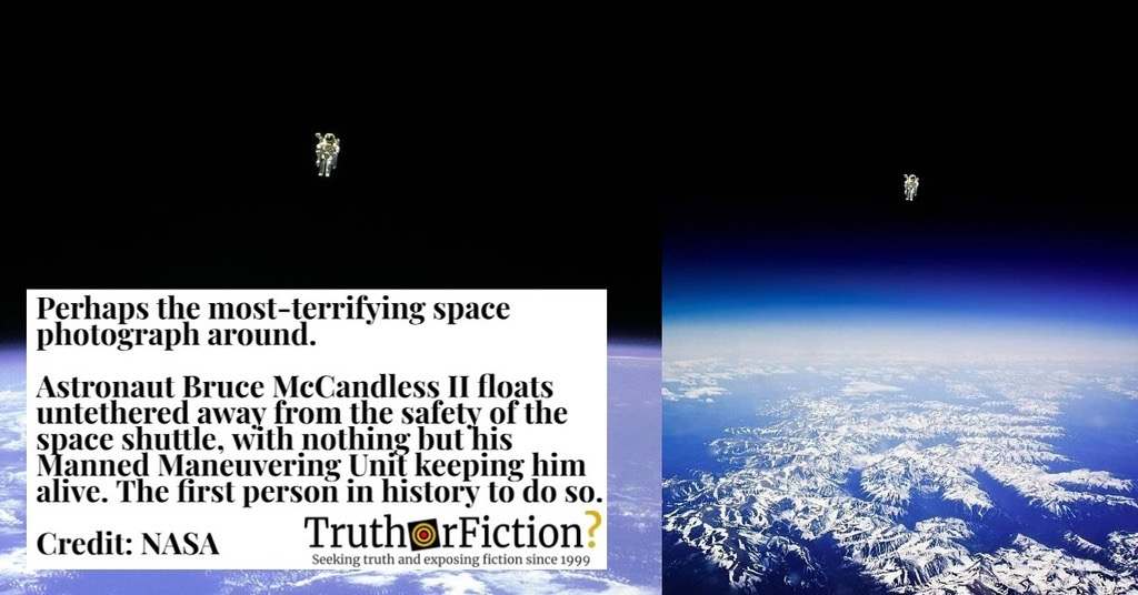 'Untethered Astronaut' Bruce McCandless in the 'Most Terrifying Space Photograph'
