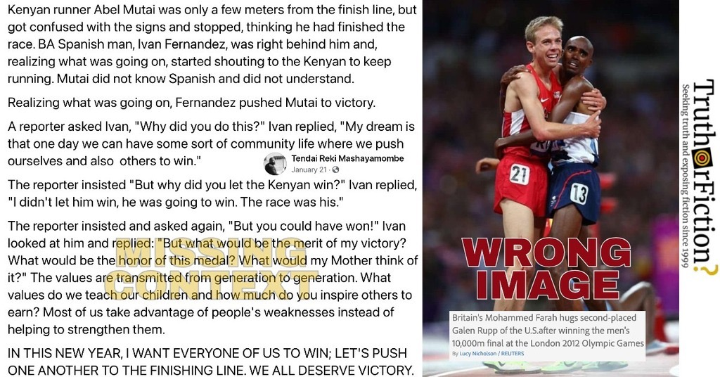 'Kenyan Runner Abel Mutai Won a Race Due to Ivan Fernandez's Sportsmanship' Viral Post