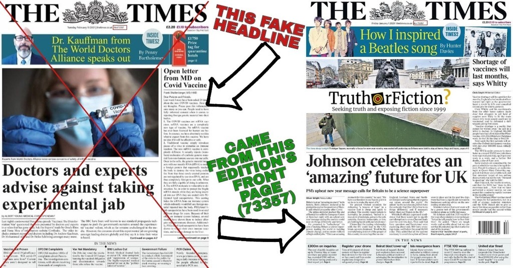 'Doctors and Experts Advise Against Taking Experimental Jab': Fake Headline Circulating