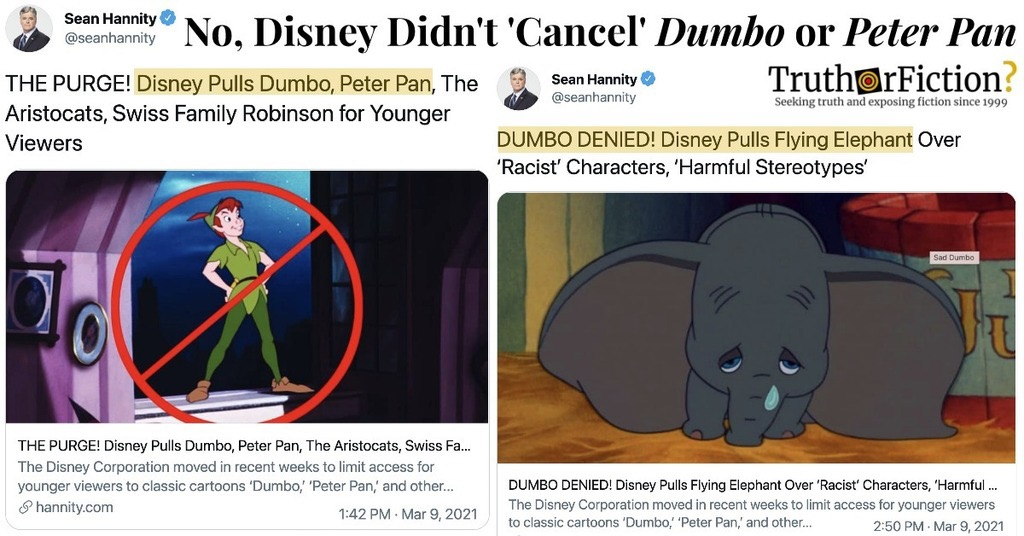 Has Disney Canceled 'Dumbo,' 'Peter Pan,' and 'The Aristocats?'