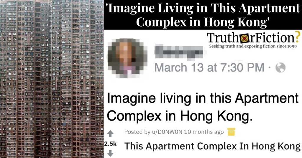 'Imagine Living in This Apartment Complex in Hong Kong'