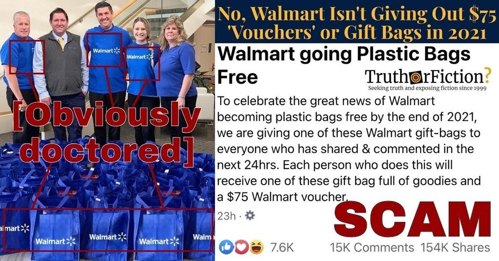 Walmart 'Going Plastic Bag Free' Giveaway Posts