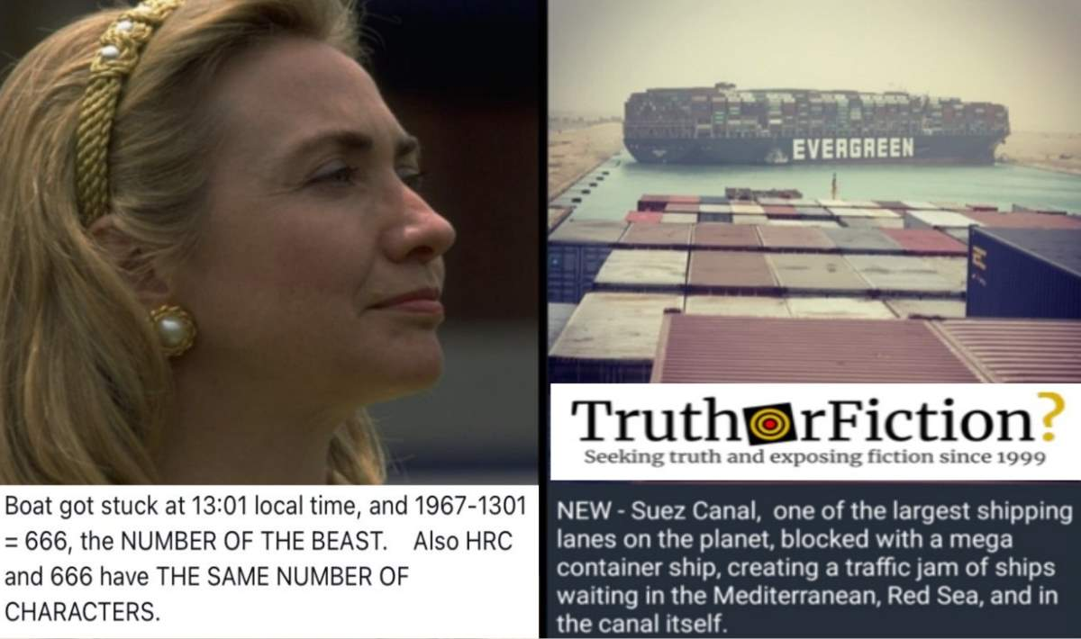 Online Conspiracy Theorists Swarm 'HRC' Suez Canal Boat Jam