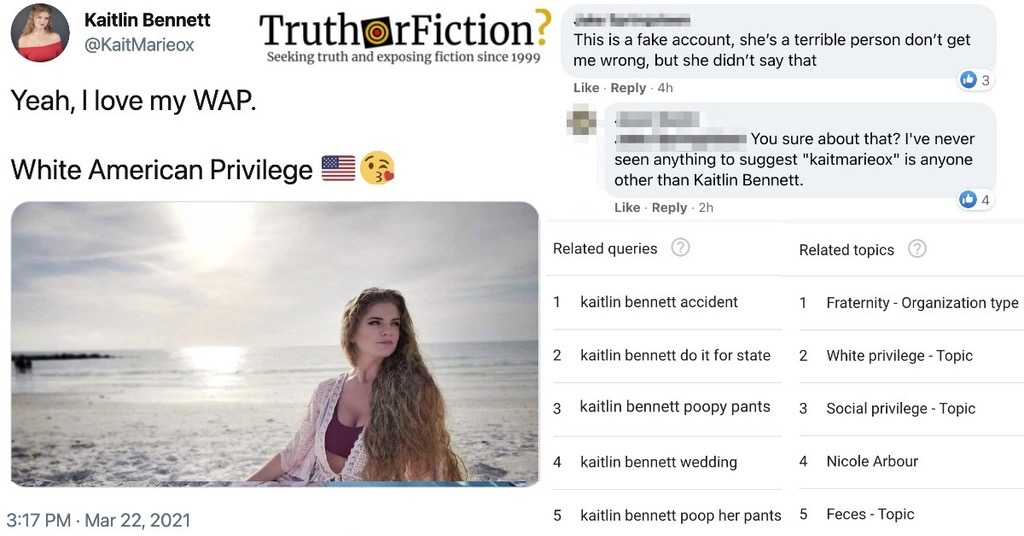 Kaitlin Bennett 'WAP' Tweet