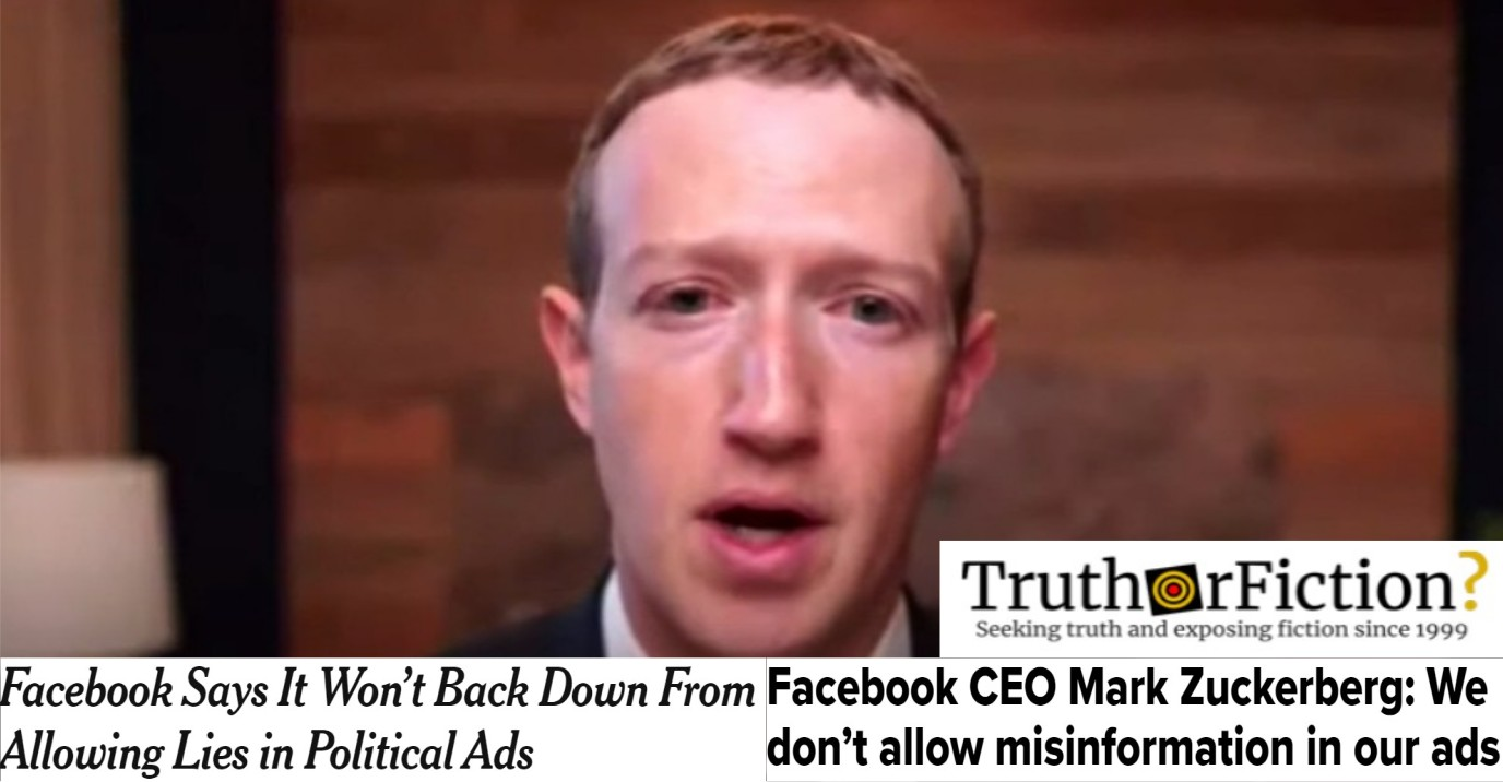 Facebook's Zuckerberg Falsely Tells Lawmakers 'We Don't Allow' Disinformation in Ads