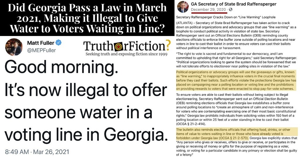 'It's Now Illegal to Offer Someone Water in a Voting Line in Georgia'