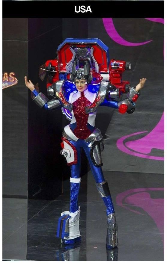 miss universe parade of costumes USA transformer