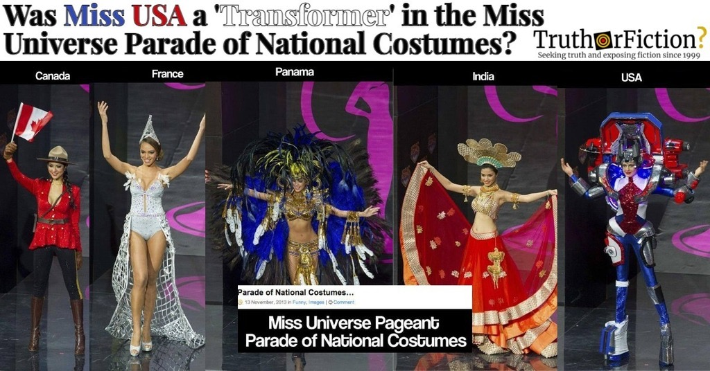'Miss Universe Parade of National Costumes' Facebook Post