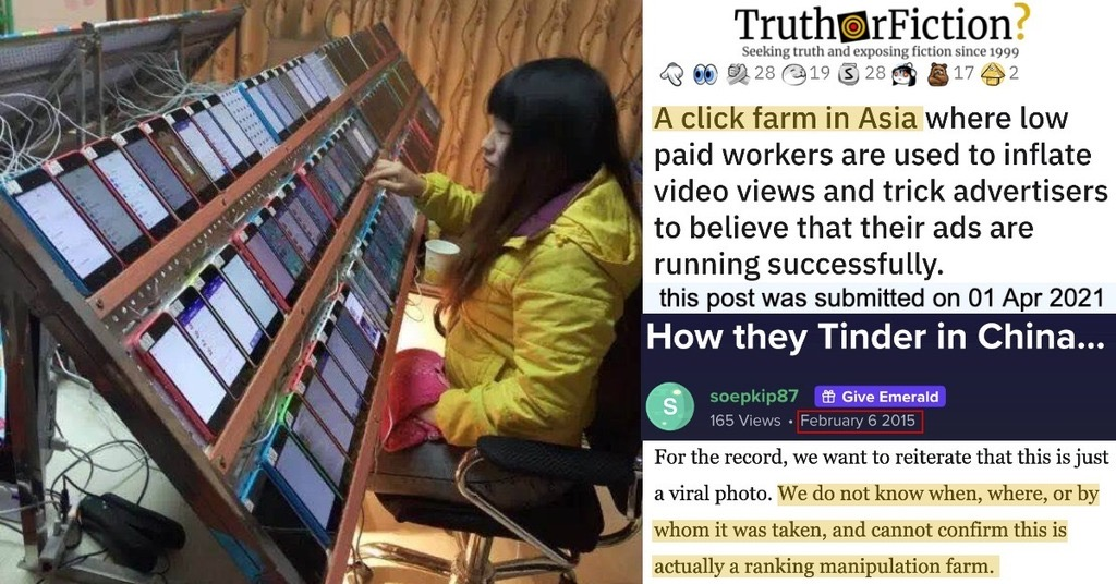 'A Click Farm in Asia Where Low Paid Workers Are Used to Inflate Video Views and Trick Advertisers'
