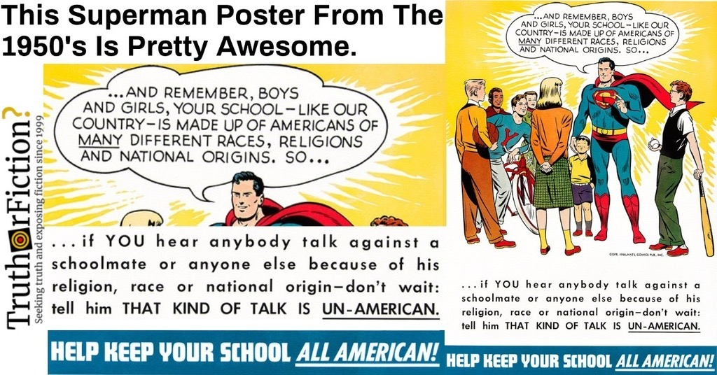 'This Superman Poster From the 1950s Is Pretty Awesome'