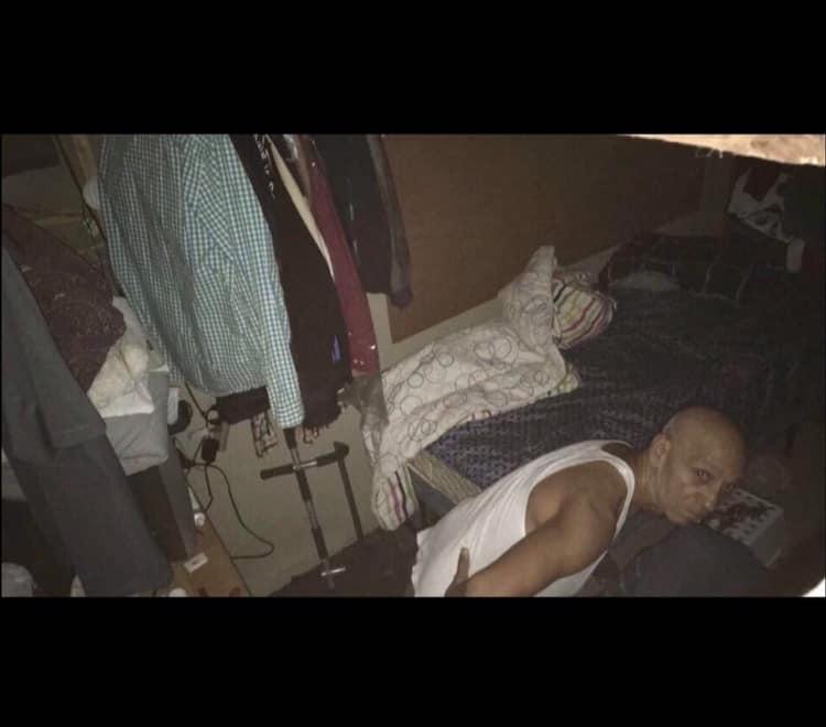check your attics man hiding in attic