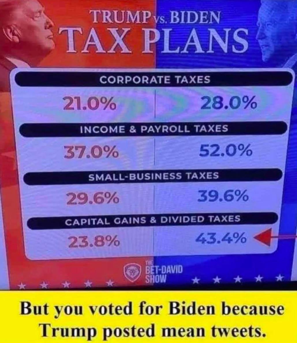 patrick bet david trump biden tax meme
