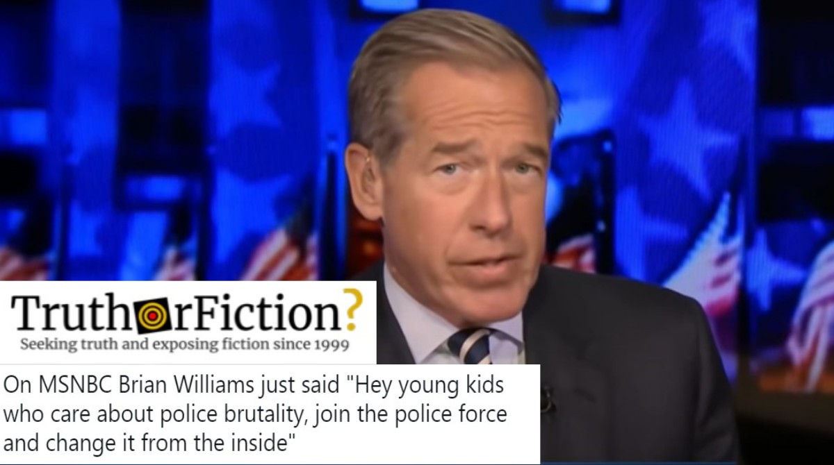 Did Brian Williams Say Activists Should Join Police Departments?