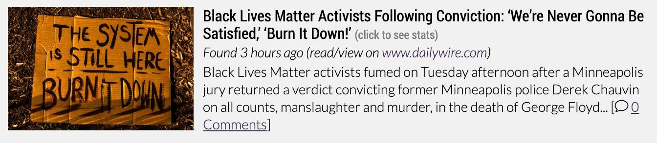 black lives matter fuming chauvin verdict