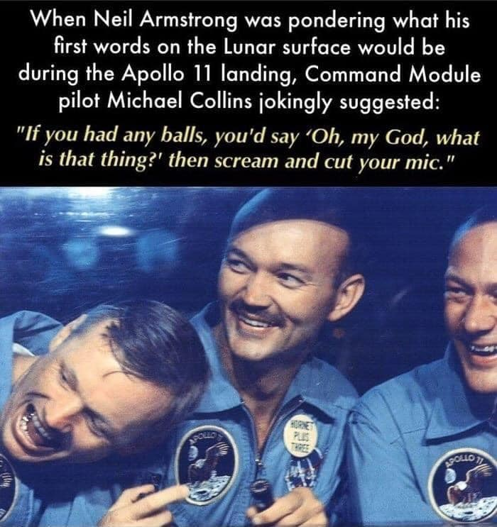 michael collins if you had any balls