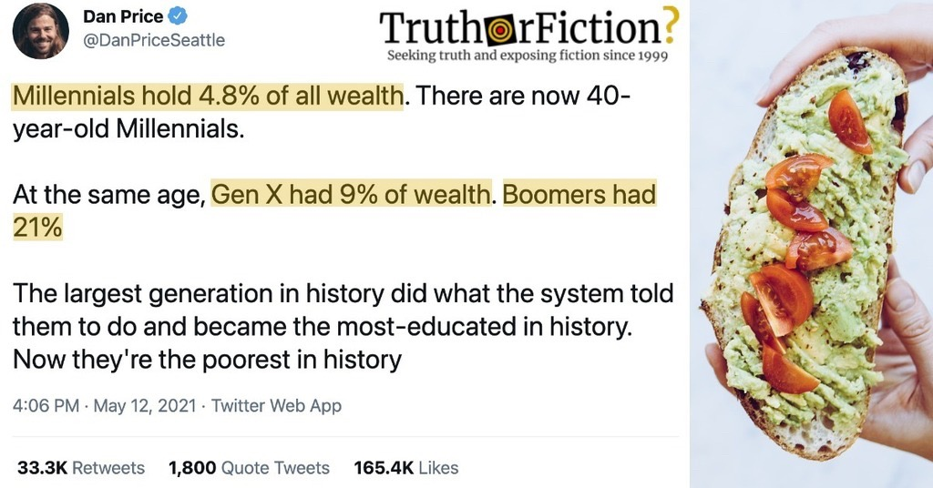 'Millennials Hold 4.8% of All Wealth, At the Same Age, Gen X Had 9% of Wealth, Boomers Had 21%'