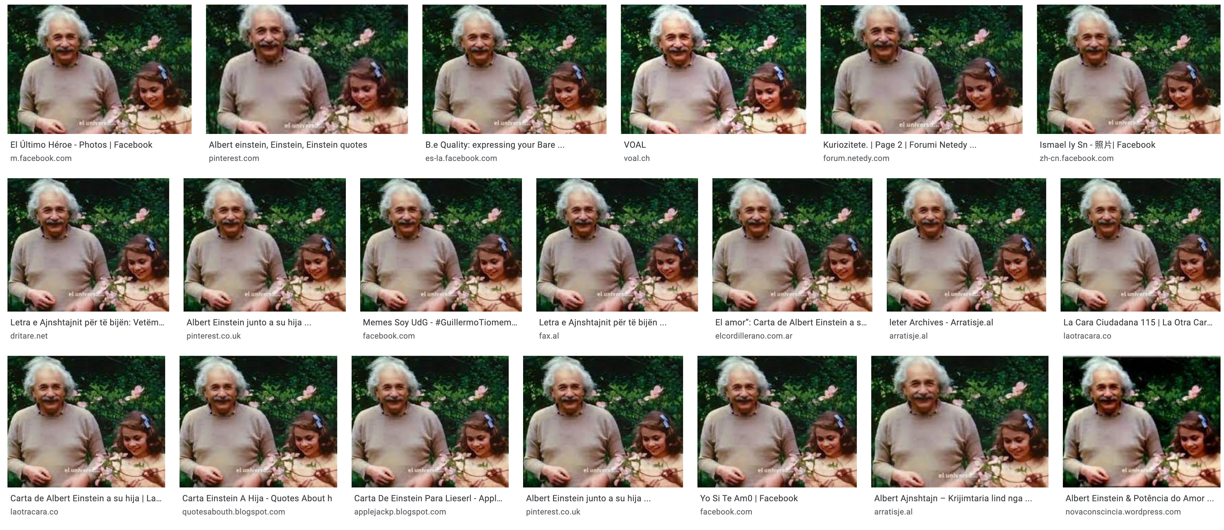'Lieserl Einstein Donated 1,400 Lost Letters,' 'The Universal Force Is Love' Facebook Post
