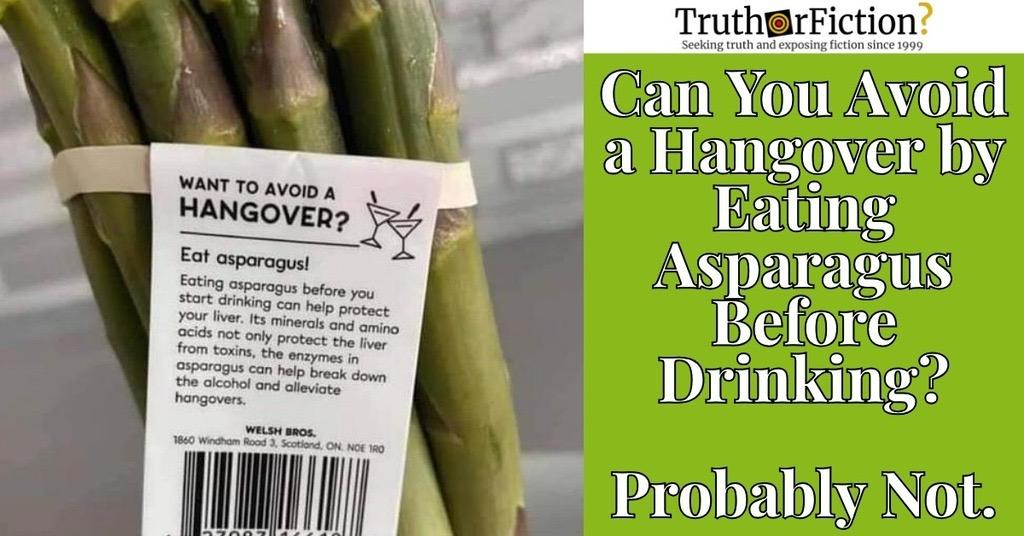 Asparagus for Hangovers