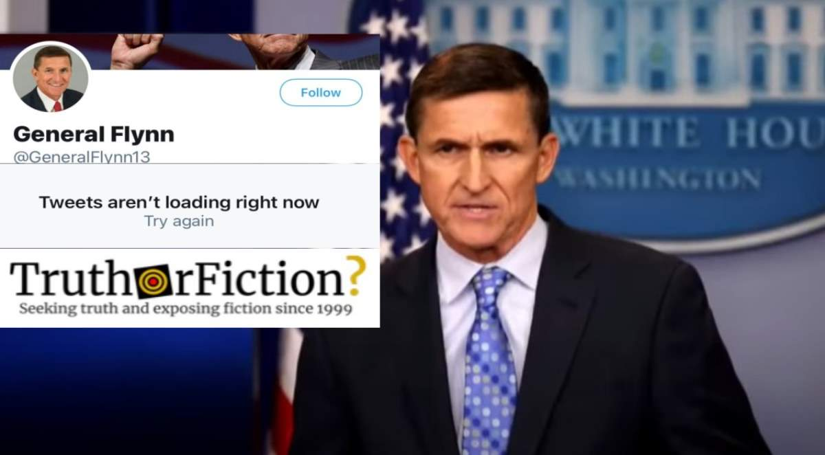 Was Michael Flynn Kicked Off of Twitter — Again?