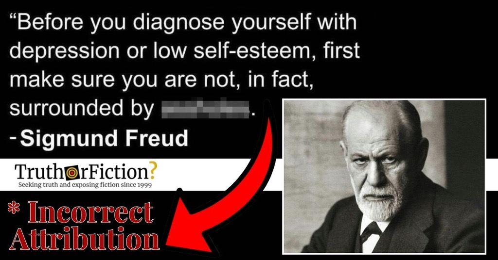 'Before You Diagnose Yourself With Depression or Low Self-Esteem …' Quote
