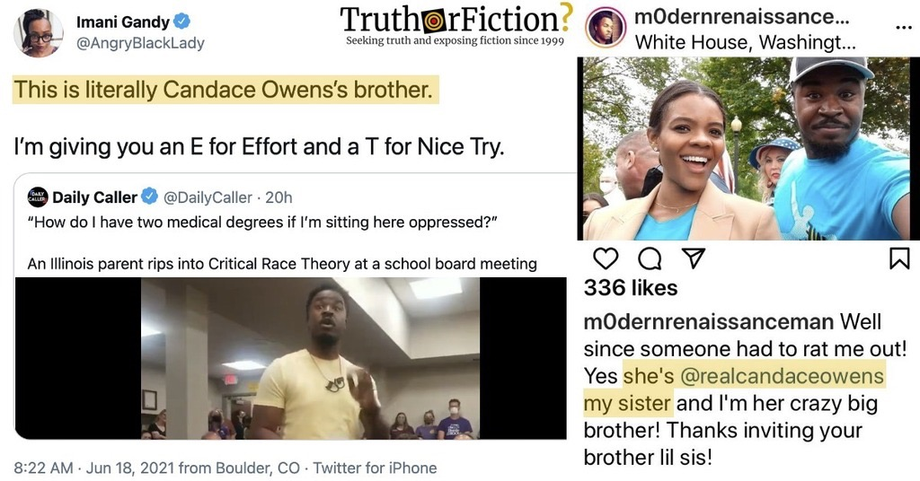 Is the 'Illinois Father' Who Criticized CRT Candace Owens' Brother?