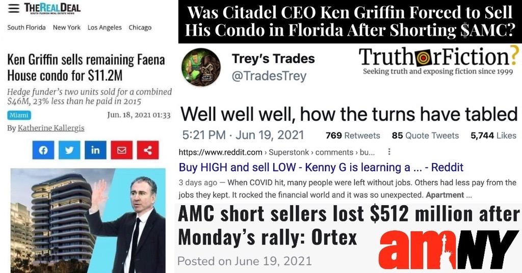 'Ken Griffin Sells Condo'