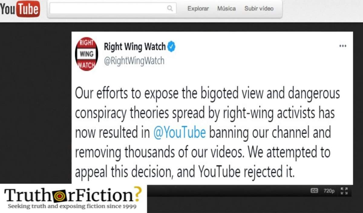 YouTube Reverses Course, Reinstates Watchdog Site Monitoring Conspiracists
