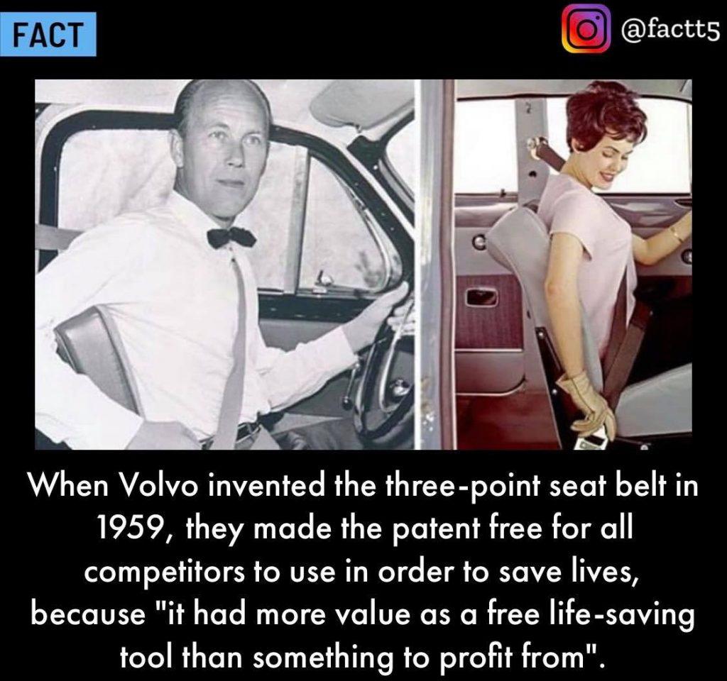 volvo three point seatbelt 1959