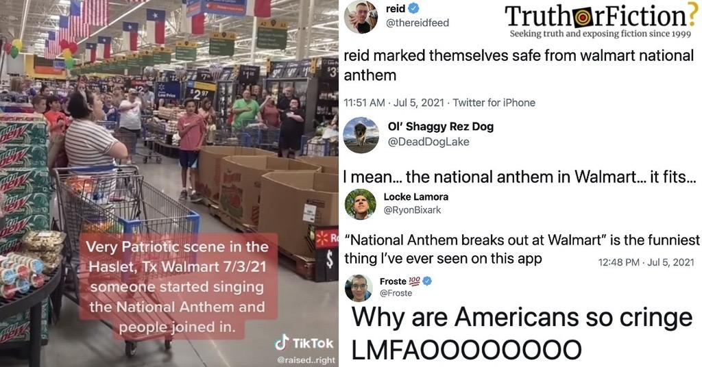 Walmart 'National Anthem' Video