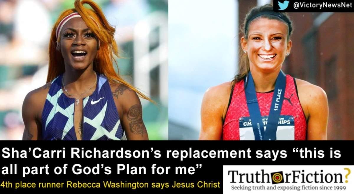 Is Rebecca Washington Replacing Sha'Carri Richardson on the U.S. Olympic Team?