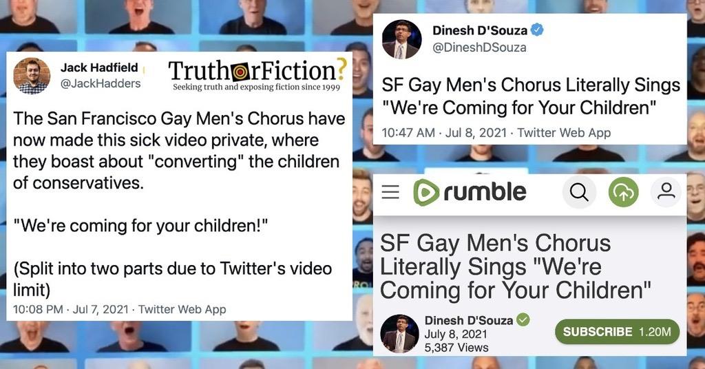 SF Gay Men's Chorus 'Convert Your Children' Song