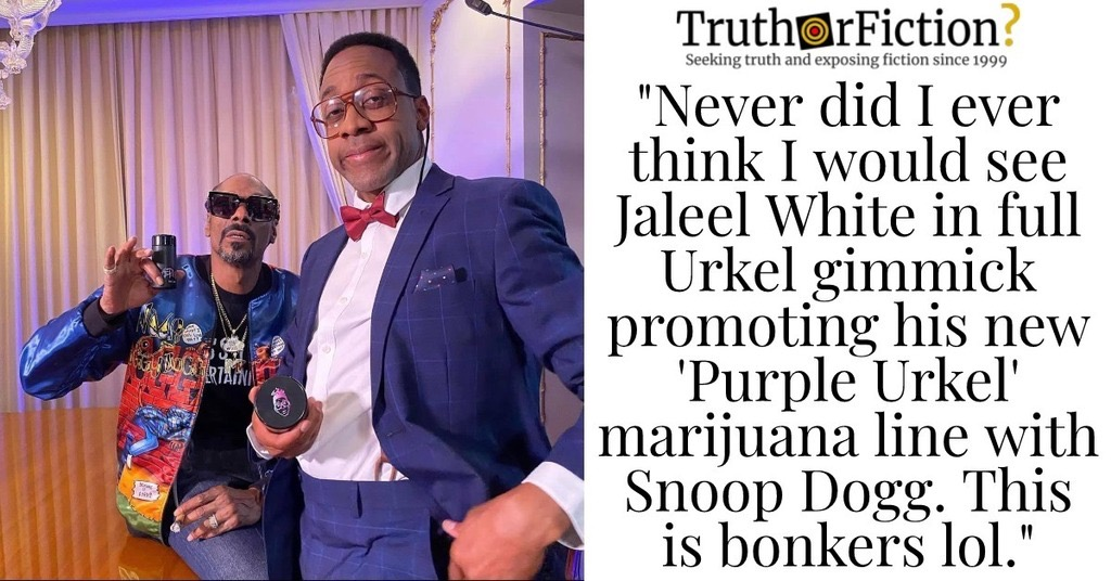 Jaleel White and 'Purple Urkel'