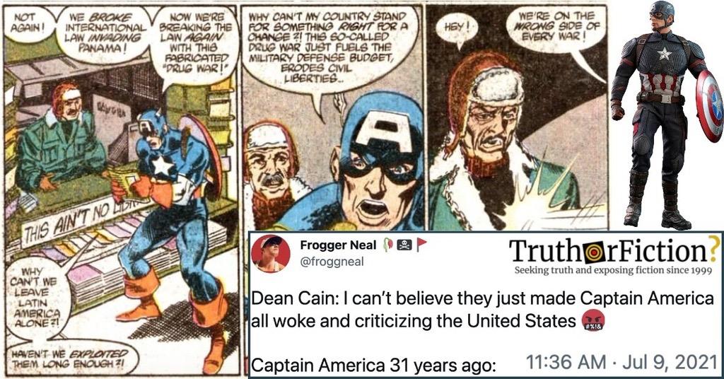 'Captain America 31 Years Ago'