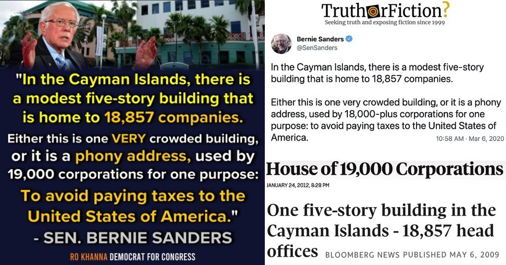 'In the Cayman Islands, There Is a Modest Five-Story Building That Is Home to 18,857 Companies'
