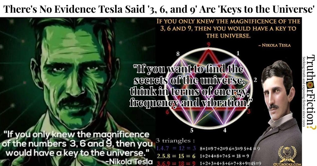 Nikola Tesla '369 Theory'