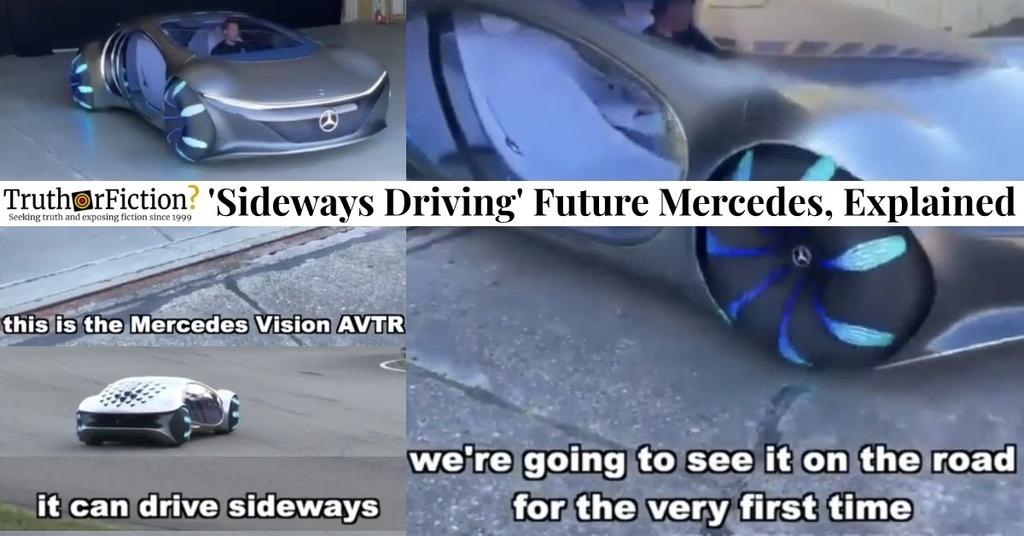 'Future Mercedes Drives Sideways'