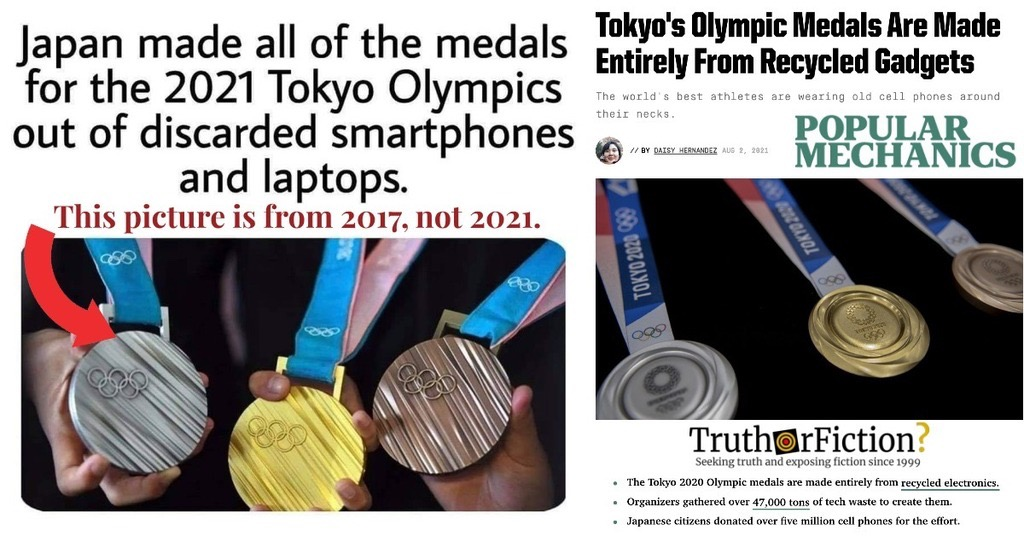 Are Japan's Olympic Medals Made From Recycled Electronics?